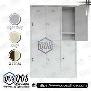 Multiple-Steel-Locker-6-Compartment-Steel-Locker-QOS-GS139-A