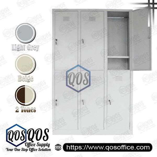 Multiple-Steel-Locker-6-Compartment-Steel-Locker-QOS-GS141-A