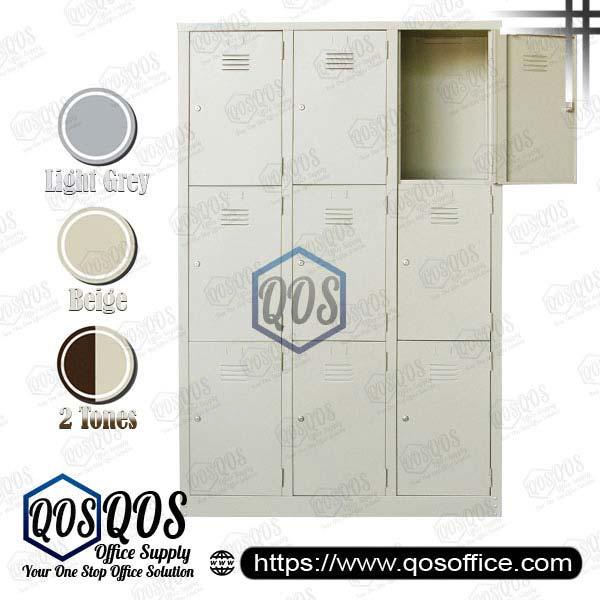 Multiple-Steel-Locker-9-Compartment-Steel-Locker-QOS-GS105-A