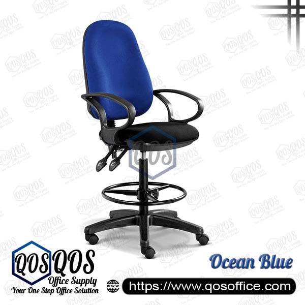Office Chair Drafting Chair QOS-CH289H Ocean Blue