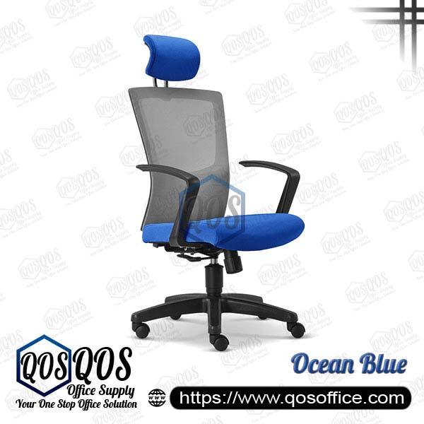 Office Chair Ergonomic Mesh Chair QOS-CH2685H Ocean Blue