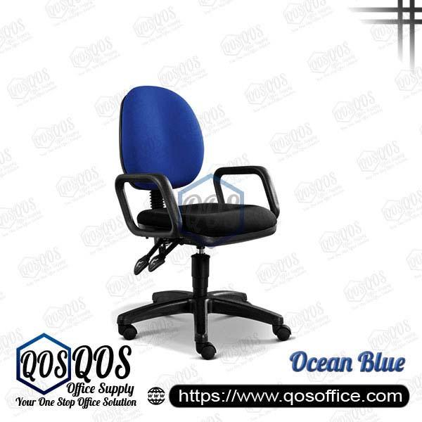 Office Chair Secretary Chair QOS-CH258H Ocean Blue
