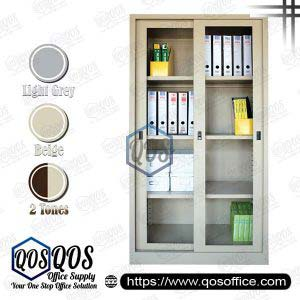 Steel-Cabinet-Full-Height-Cupboard-with-Sliding-Glass-Door-QOS-GS119
