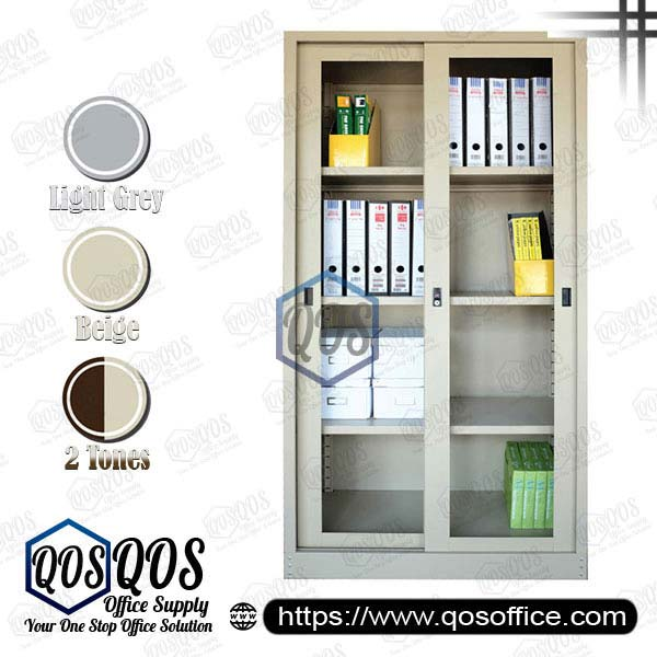 Steel-Cabinet-Full-Height-Cupboard-with-Sliding-Glass-Door-QOS-GS119