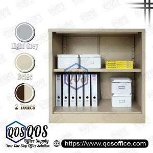 Steel-Cabinet-Open-Shelf-Half-Height-Steel-Cabinet-QOS-GS112W