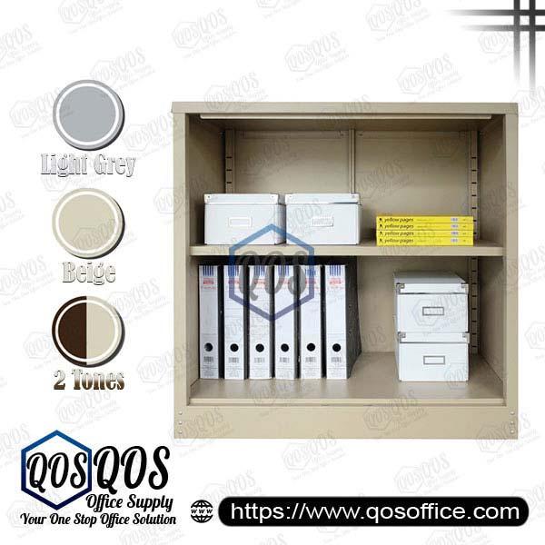 Steel-Cabinet-Open-Shelf-Half-Height-Steel-Cabinet-QOS-GS112W