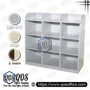 9 Pigeon Holes Half Height Steel Cabinet | QOS-S113-B