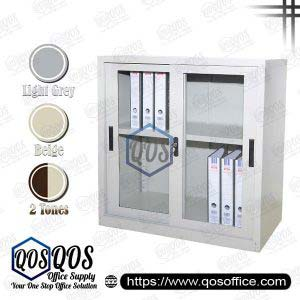 Half Height Sliding Glass Door Steel Cabinet | QOS-S110