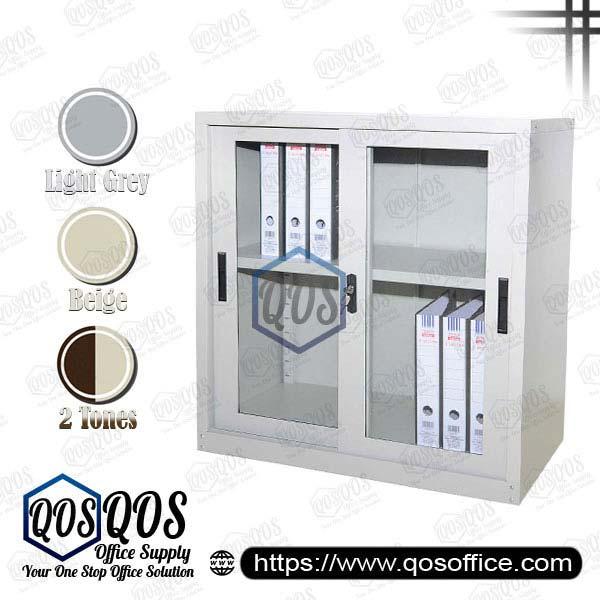 Steel-Cabinet-Sliding-Glass-Door-Half-Height-Steel-Cabinet-QOS-GS110