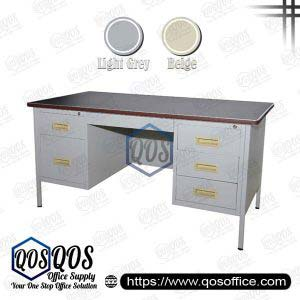 Steel Table with Double Side Pedestal | QOS-S103-LT