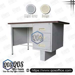 Steel Table with Single Side Pedestal | QOS-S102-LT