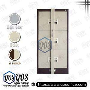 Steel-Filing-Cabinet-with-Locking-Bar-3-Drawer-QOS-GS106-BBLB