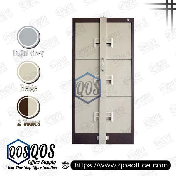 Steel-Filing-Cabinet-with-Locking-Bar-3-Drawer-QOS-GS106-BBLB
