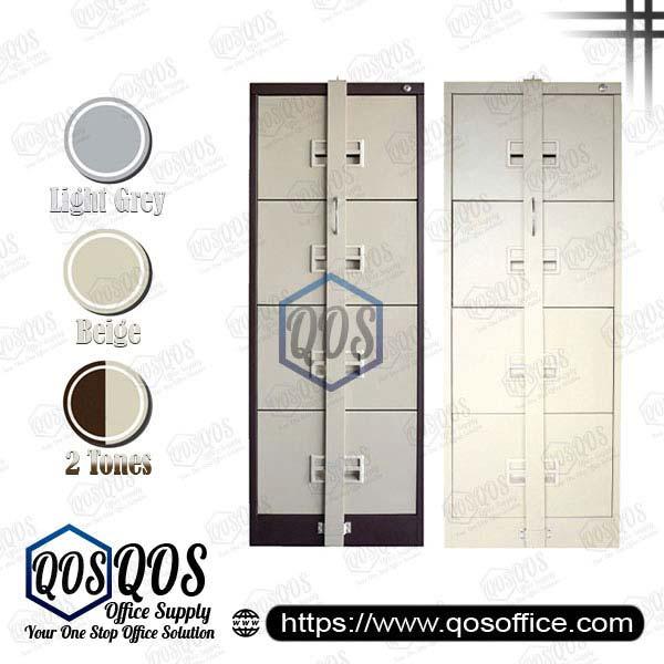 Steel-Filing-Cabinet-with-Locking-Bar-4-Drawer-QOS-GS106-ABLB