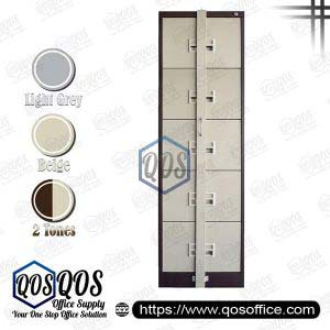 Steel-Filing-Cabinet-with-Locking-Bar-5-Drawer-QOS-GS106-5ALB