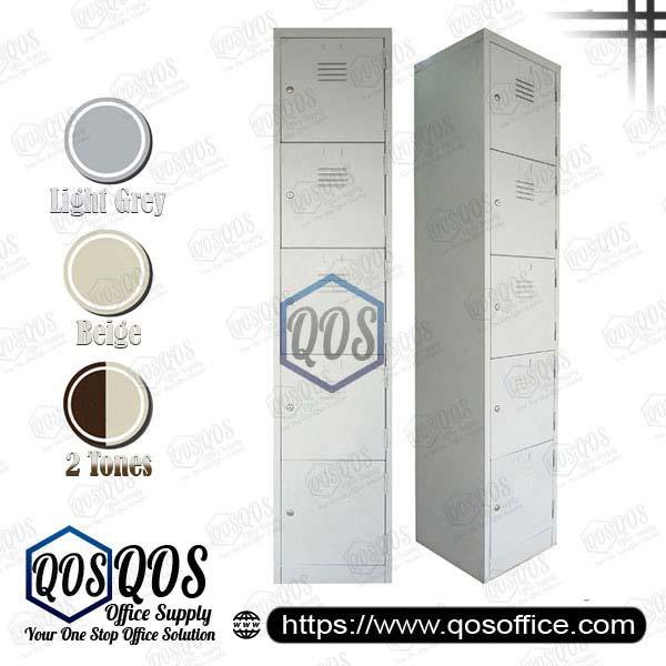 Steel-Locker-5-Compartment-Steel-Locker-QOS-GS114-E
