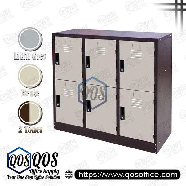 Steel-Locker-Half-Height-6-Compartment-Steel-Locker-QOS-GS127-A