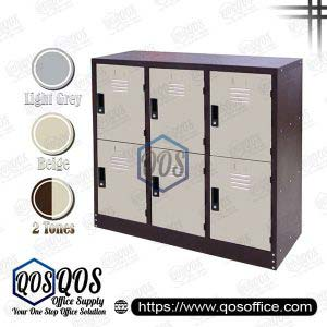 Steel-Locker-Half-Height-6-Compartment-Steel-Locker-QOS-GS128-A