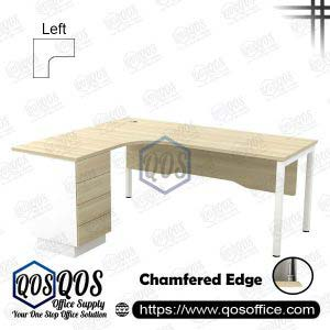 L-Shape Office Table 5'x5′ | QOS-SWL-15154D