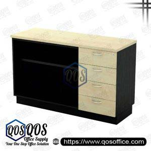 Workstation-Open-Shelf-&-Fixed-Pedestal-4D-QOS-T-YOP7124