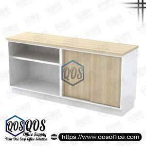 Workstation-Open-Shelf-&-Sliding-Door-Low-Cabinet-QOS-B-YOS7180