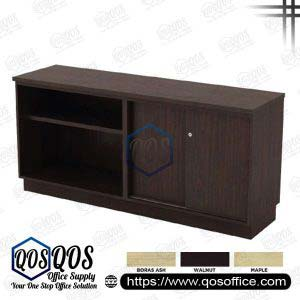 Workstation-Open-Shelf-&-Sliding-Door-Low-Cabinet-QOS-Q-YOS7180