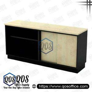 Workstation-Open-Shelf-&-Sliding-Door-Low-Cabinet-QOS-T-YOS7160
