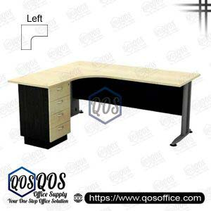 Office Table L-Shape 5'x5' QOS-TL-15154D-L Superior Compact Table